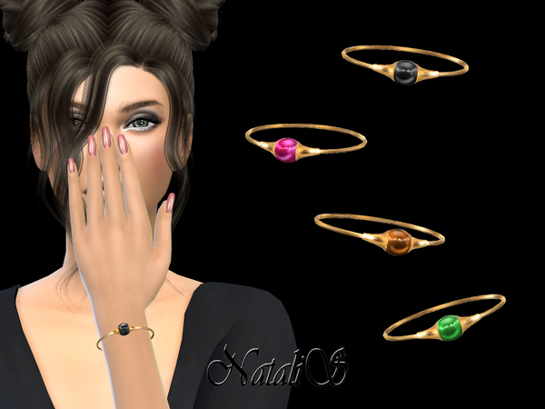 Sims 4 Bracelet with cabochon by NataliS at TSR