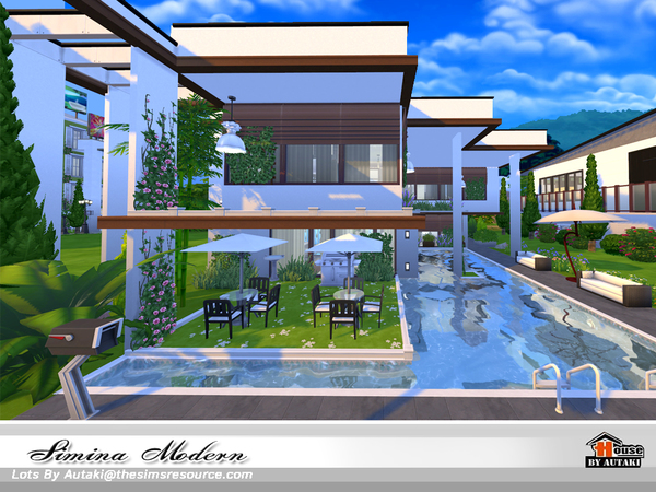 Simina Modern house by autaki at TSR image 2520 Sims 4 Updates