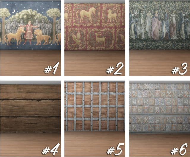 The Sims Medieval Tapestries at Historical Sims Life image 2533 Sims 4 Updates