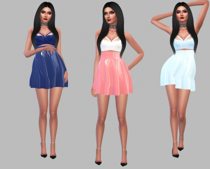 Sims 4 Top & Latex Skirt at Simply Simming