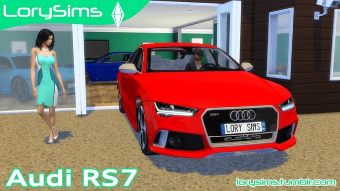 Audi RS7 at LorySims image 256 670x377 Sims 4 Updates