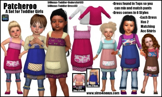 Patcheroo dress (top) by SamanthaGump at Sims 4 Nexus image 2581 670x402 Sims 4 Updates