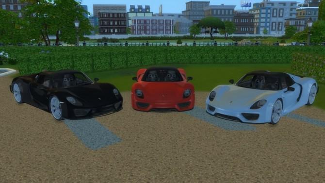 Sims 4 Porsche 918 Spyder at LorySims