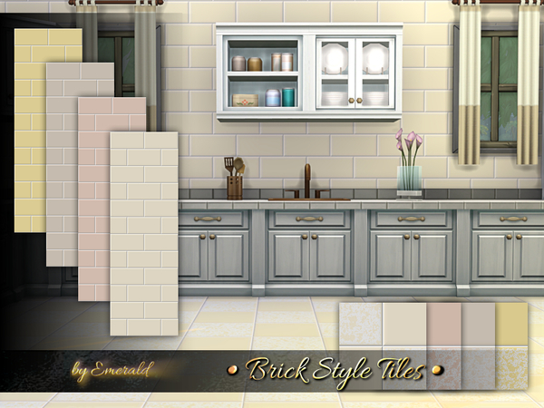 Brick Style Tiles by emerald at TSR image 2617 Sims 4 Updates