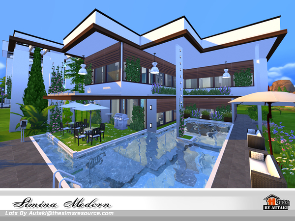 Simina Modern house by autaki at TSR image 2619 Sims 4 Updates