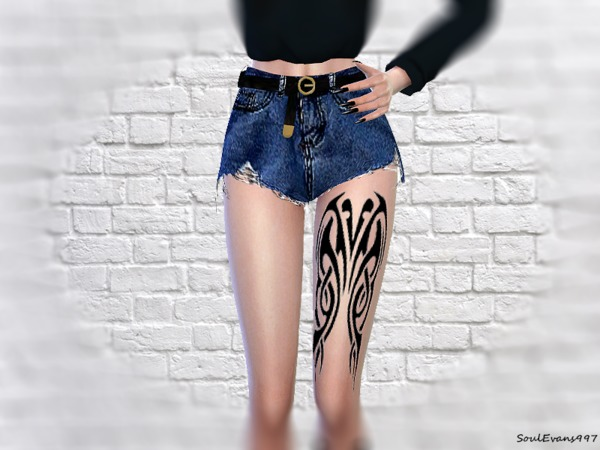 Sims 4 Leg Tattoo by SoulEvans997 at TSR