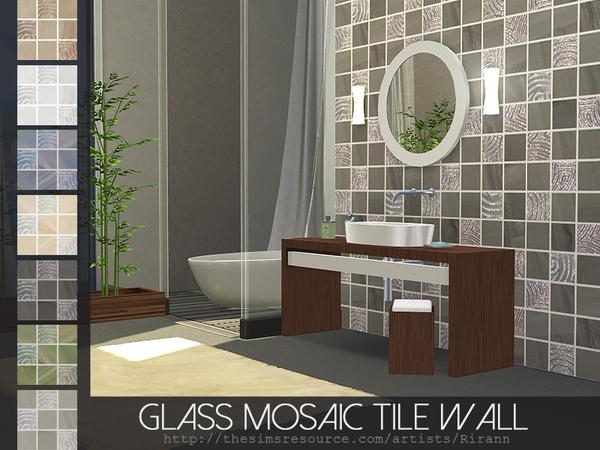 Glass Mosaic Tile Wall by Rirann at TSR image 26271 Sims 4 Updates