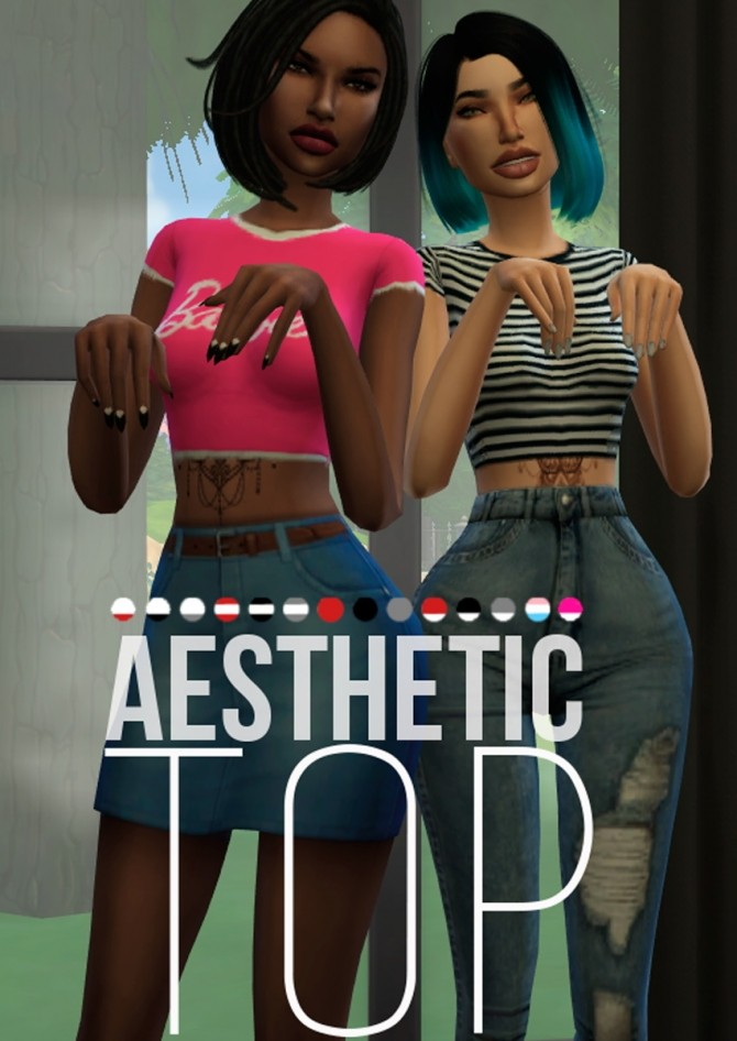 Sims 4 AESTHETIC GIRL TOP at Candy Sims 4