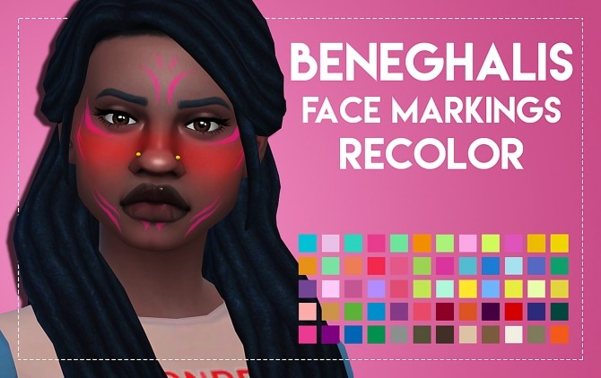 Beneghalis Facial Markings Recolor 2.0 by Weepingsimmer at SimsWorkshop image 2716 670x422 Sims 4 Updates