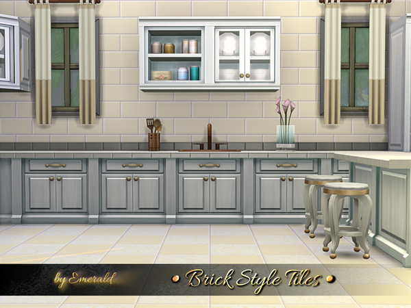 Brick Style Tiles by emerald at TSR image 2718 Sims 4 Updates