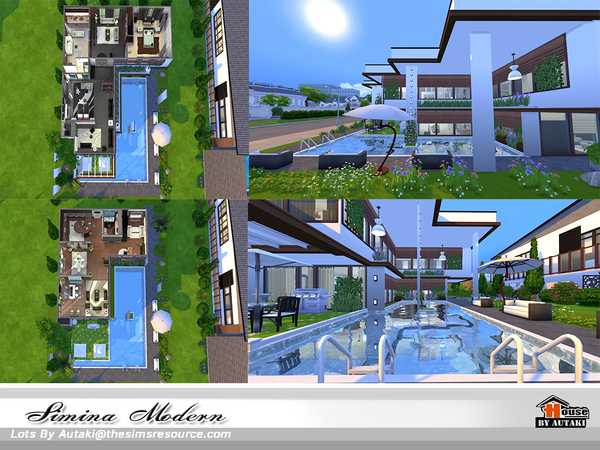 Simina Modern house by autaki at TSR image 2719 Sims 4 Updates