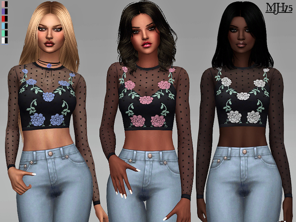 Sims 4 Zola Tops by Margeh 75 at TSR