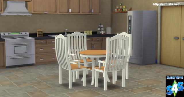 Brenna Dinging table and chairs at Simista image 2751 Sims 4 Updates