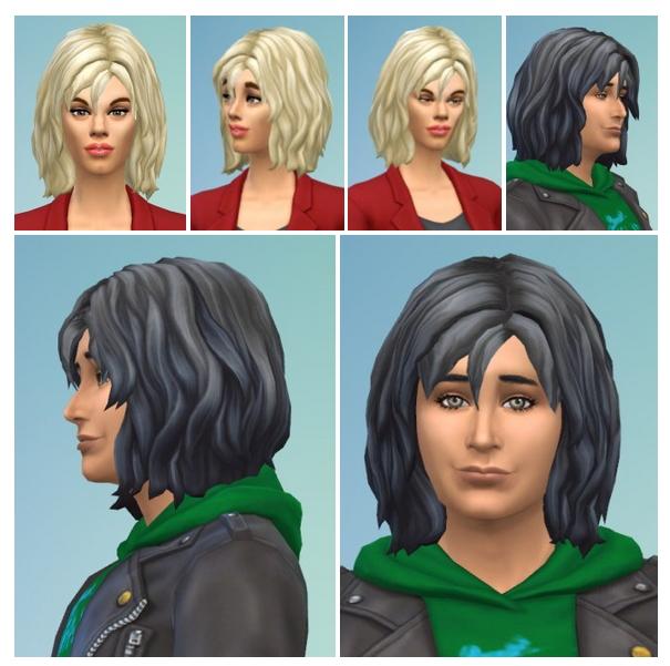Sims 4 Midwavy Hair at Birksches Sims Blog