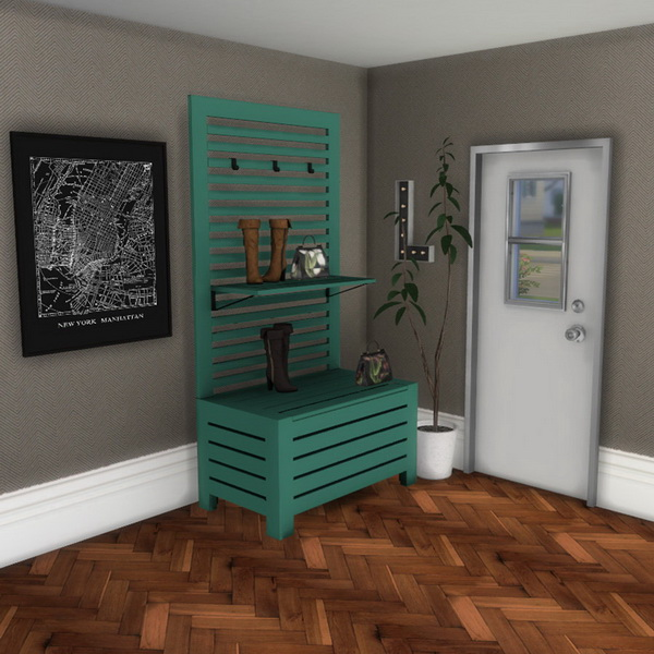 Hall rack and deco at leo sims sims 4 updates for Deco appartement sims 4