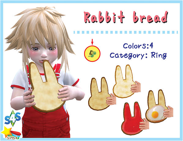 Rabbit bread acc (Child & Toddler) at A luckyday image 2791 Sims 4 Updates