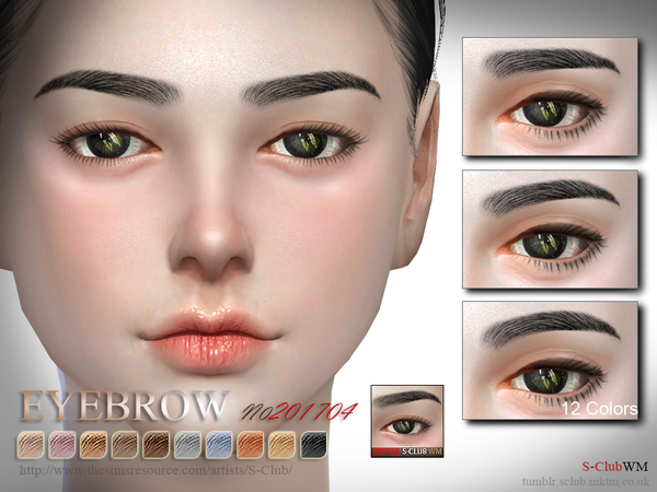 Eyebrows F 201704 by S Club WM at TSR image 2816 Sims 4 Updates