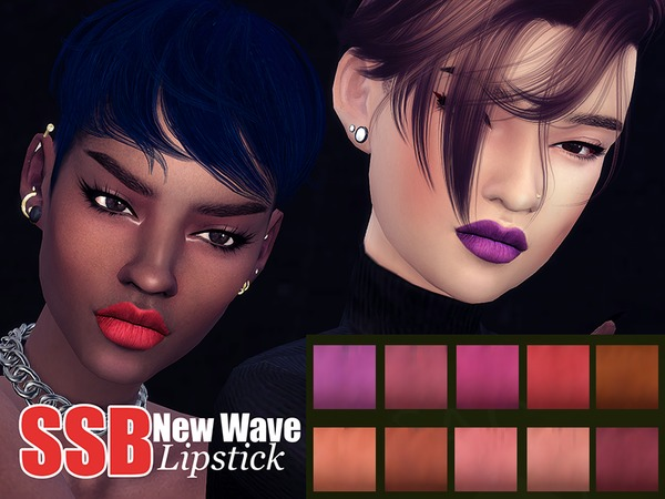 Sims 4 SSB New Wave Lipstick by SavageSimBaby at TSR