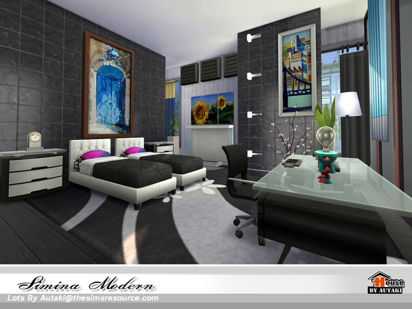 Simina Modern house by autaki at TSR image 2818 Sims 4 Updates