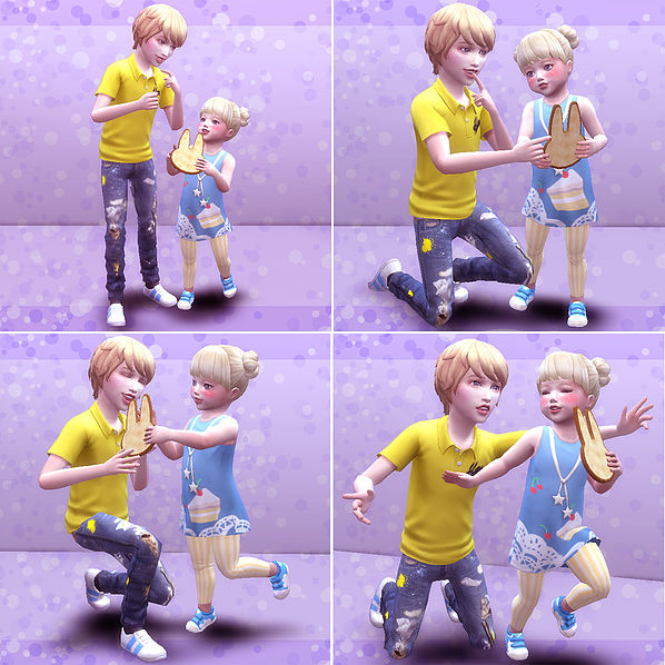 Brothers & Sisters pose 03 at A luckyday image 2819 Sims 4 Updates