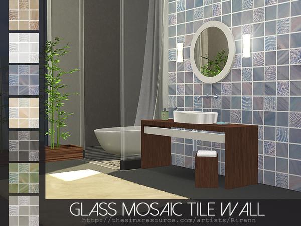 Glass Mosaic Tile Wall by Rirann at TSR image 2827 Sims 4 Updates