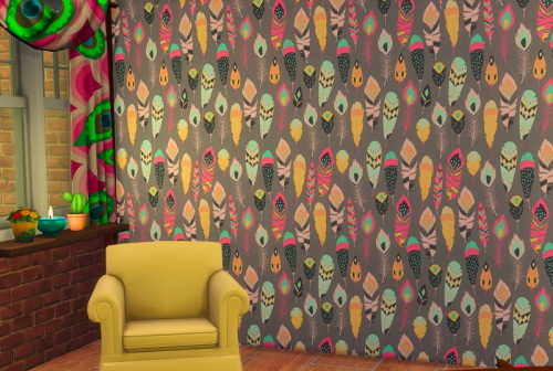 Sims 4 Feathers wallpaper at ChiLLis Sims