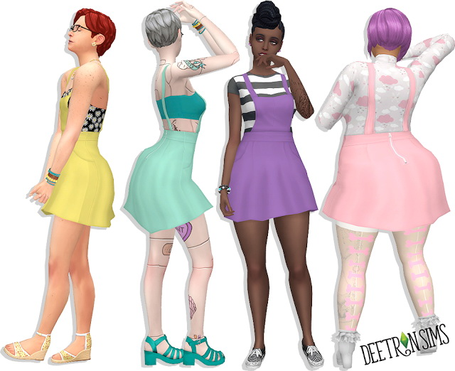 Sims 4 Liberated Shortalls v.3 at Deetron Sims