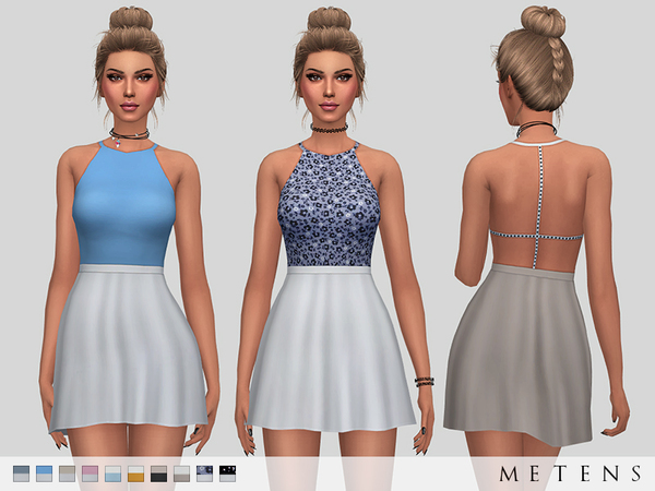Sims 4 Poppy Dress by Metens at TSR