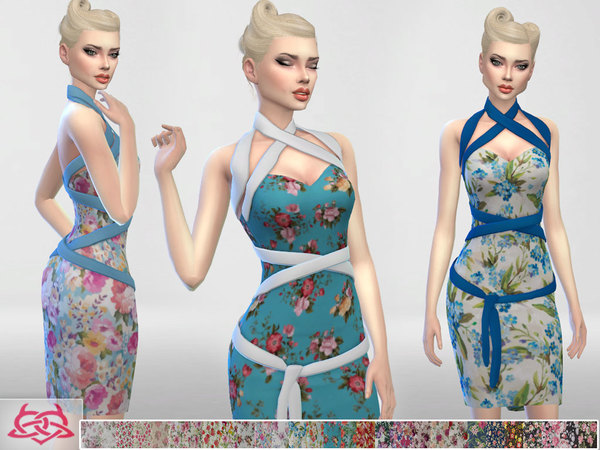 Mozzy dress recolor 3 by Colores Urbanos at TSR image 2926 Sims 4 Updates