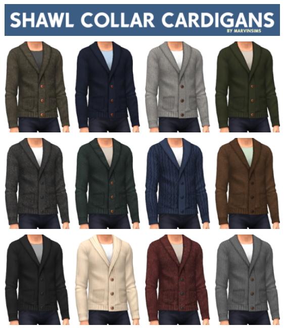 Sims 4 Shawl Collar Cardigans at Marvin Sims