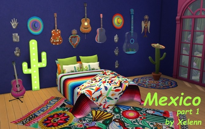Sims 4 Mexico part 1   22 objects at Xelenn