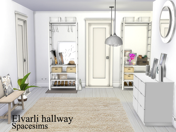 Sims 4 Elvarli hallway by spacesims at TSR