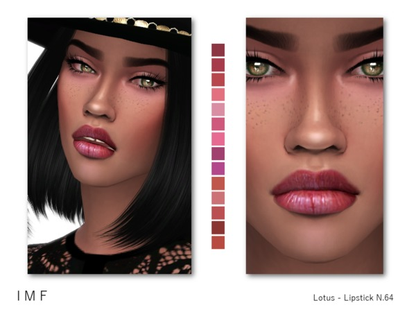 IMF Lotus Lipstick N.64 by IzzieMcFire at TSR image 301 Sims 4 Updates