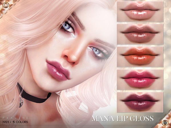 Mana Lip Gloss N123 by Pralinesims at TSR image 3019 Sims 4 Updates