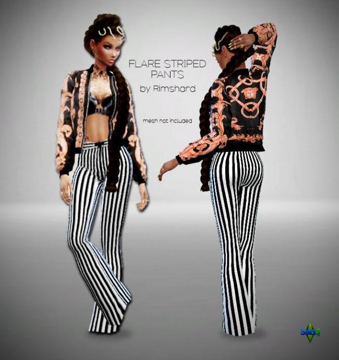 Flare Striped Pants at Rimshard Shop image 302 670x712 Sims 4 Updates