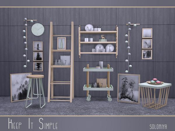 Keep It Simple set by soloriya at TSR image 3022 Sims 4 Updates