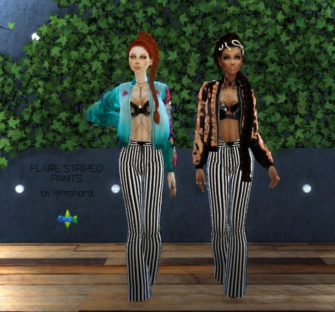Flare Striped Pants at Rimshard Shop image 303 670x625 Sims 4 Updates