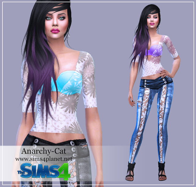 Outfit for females #21 at Anarchy Cat image 307 Sims 4 Updates