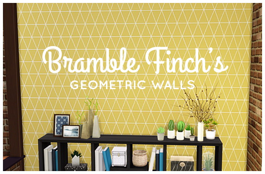 Geometric Walls by BrambleFinch at SimsWorkshop image 3118 Sims 4 Updates