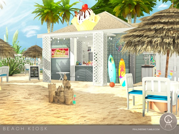 Beach Kiosk by Pralinesims at TSR image 3119 Sims 4 Updates