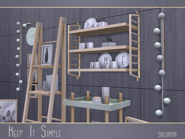 Keep It Simple set by soloriya at TSR image 3122 Sims 4 Updates