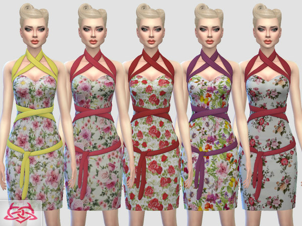 Mozzy dress recolor 3 by Colores Urbanos at TSR image 3130 Sims 4 Updates