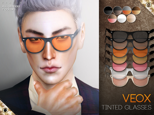 Sims 4 VEOX Tinted Glasses by Pralinesims at TSR