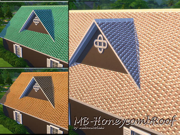 MB Honeycomb Roof by matomibotaki at TSR image 3140 Sims 4 Updates
