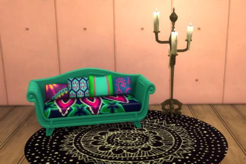 Sims 4 Movie Hangout Sofa as Loveseat at ChiLLis Sims