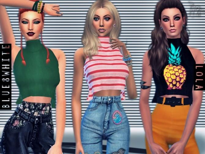 LOLA CROP TOP at Blue8white image 3193 670x503 Sims 4 Updates