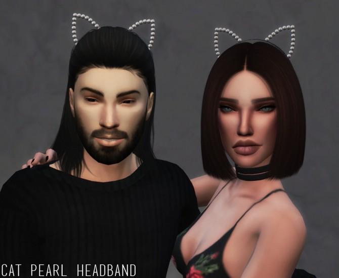 Sims 4 CAT PEARL HEADBAND at Candy Sims 4