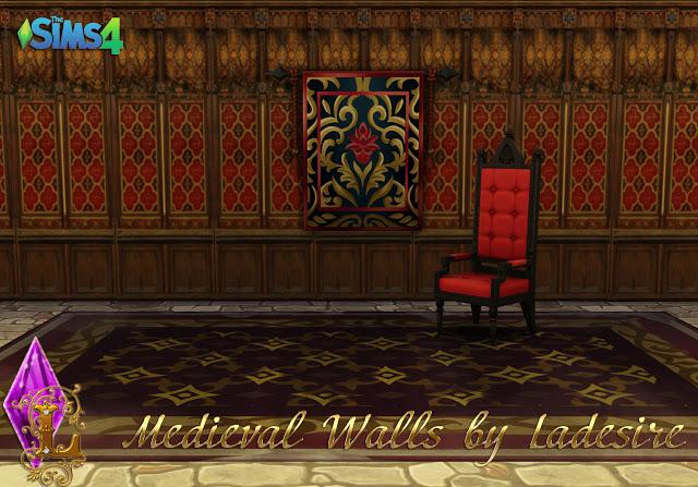 Sims 4 Medieval Walls at Ladesire