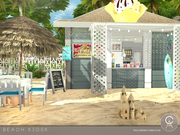 Beach Kiosk by Pralinesims at TSR image 3219 Sims 4 Updates