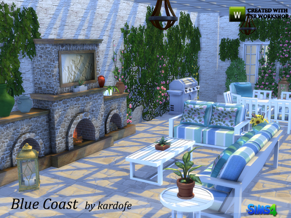 Sims 4 Blue Coast set by kardofe at TSR